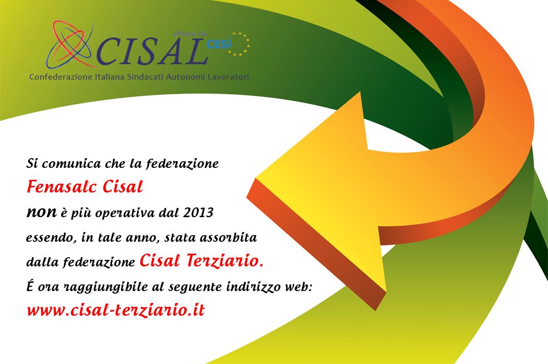 Fenasalc Cisal è stata assorbita dalla Cisal Terziario